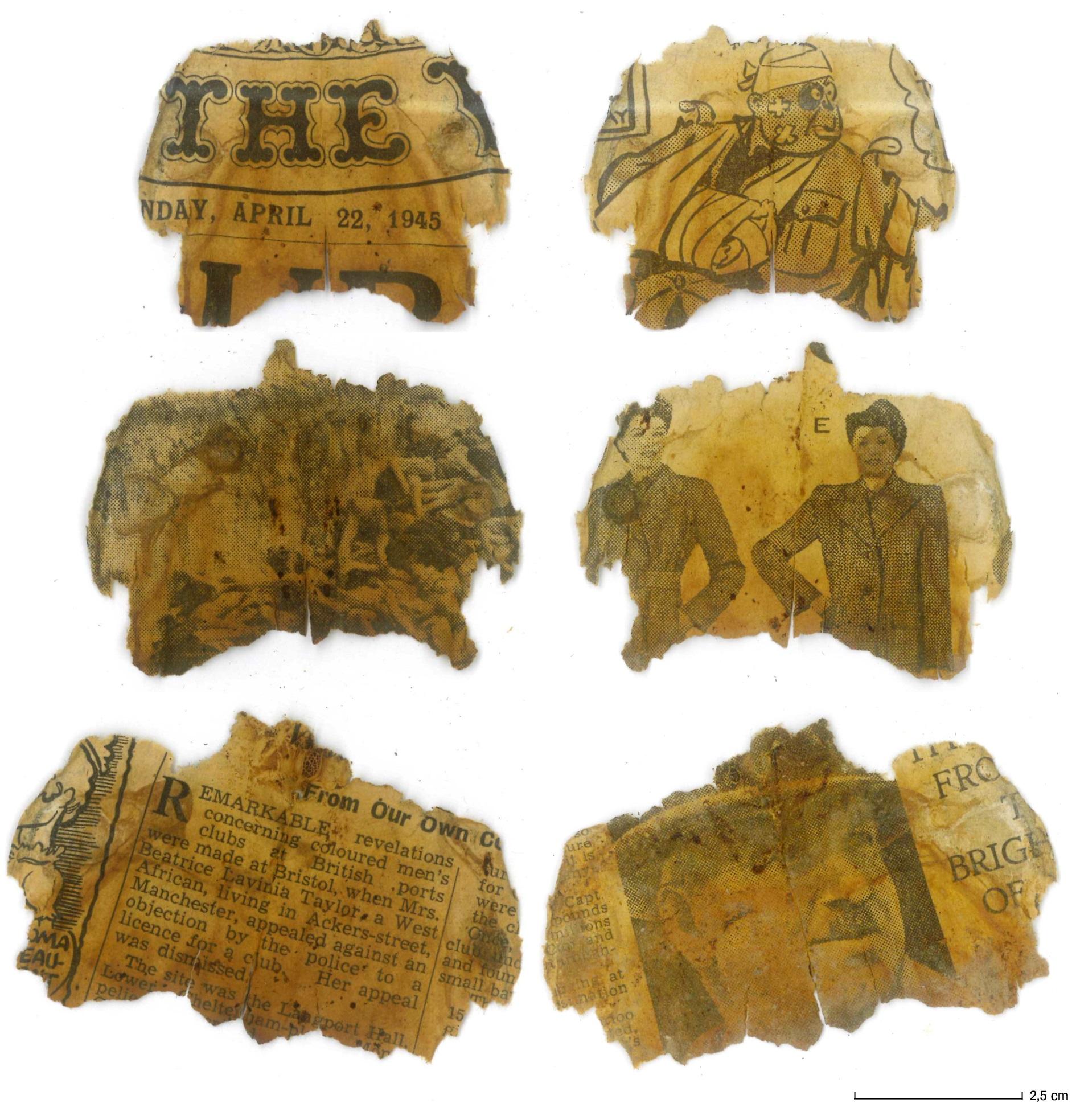 oude krantfragmenten